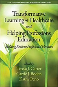graphic book cover Transformative learning in Healthcare and Helping Professions Education